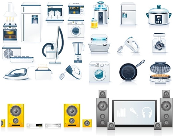 562x443 Kitchen Appliances Vector Free Vector In Encapsulated Postscript
