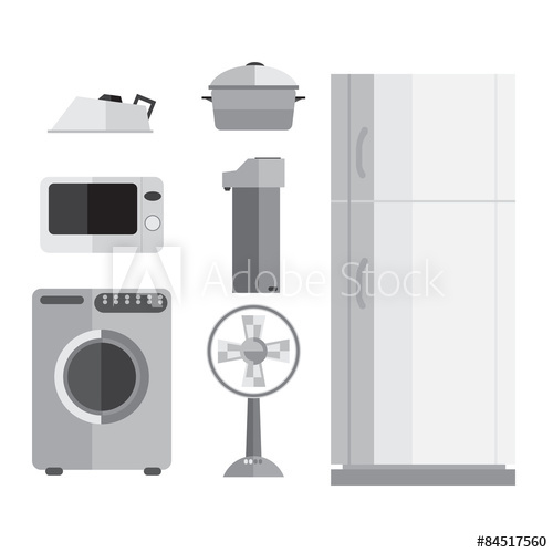 500x500 Vector Appliances, Refrigerators, Microwaves, Fans, Irons, Washi
