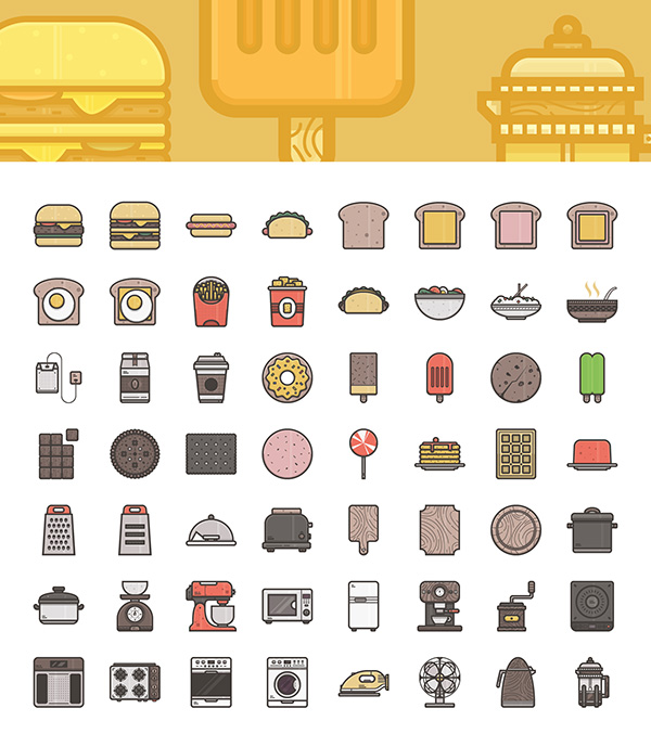 600x689 Food And Appliances Icons