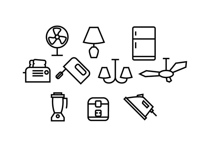 700x490 Free Home Appliances Icon Vector