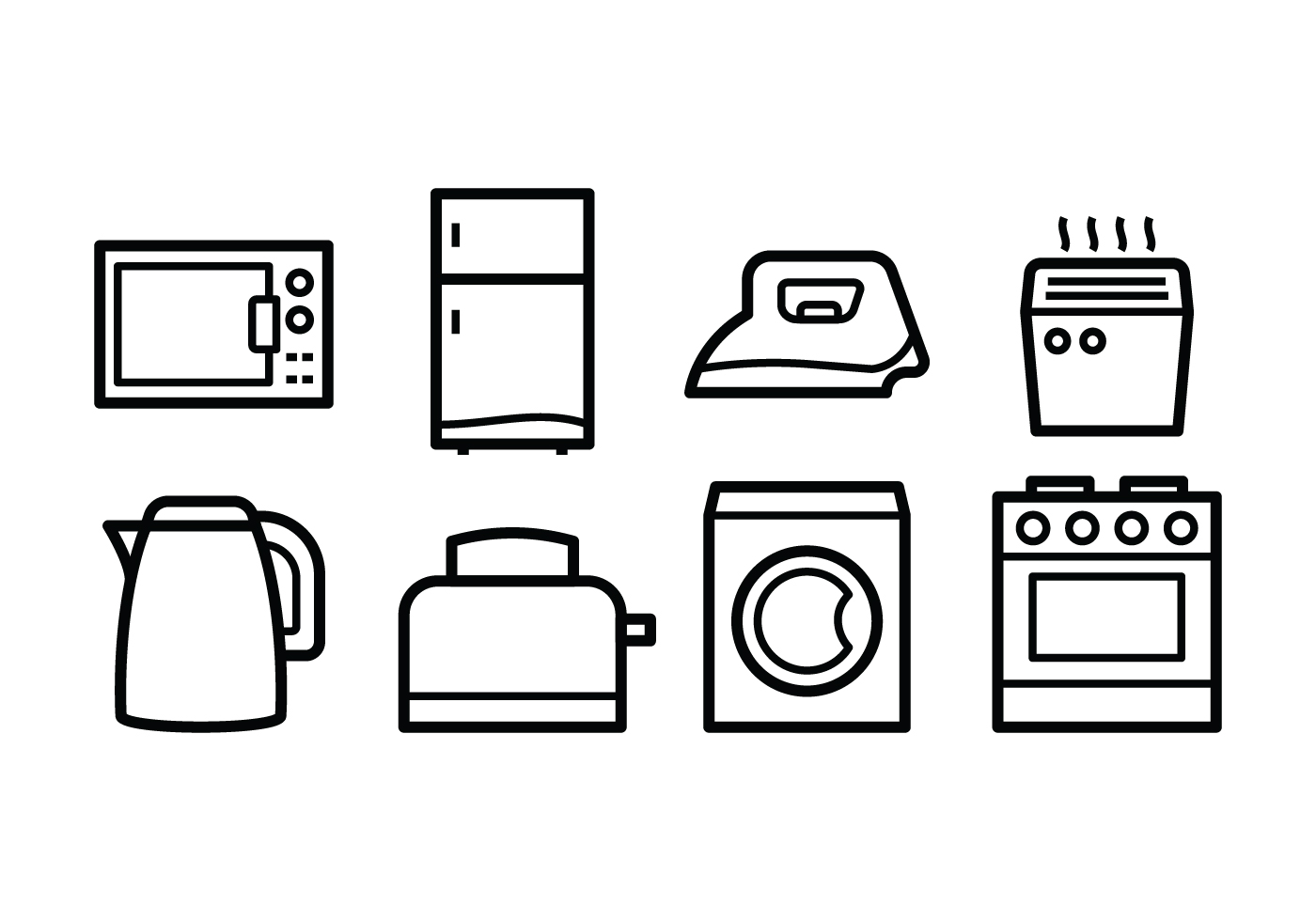 1400x980 Free Home Appliances Icons