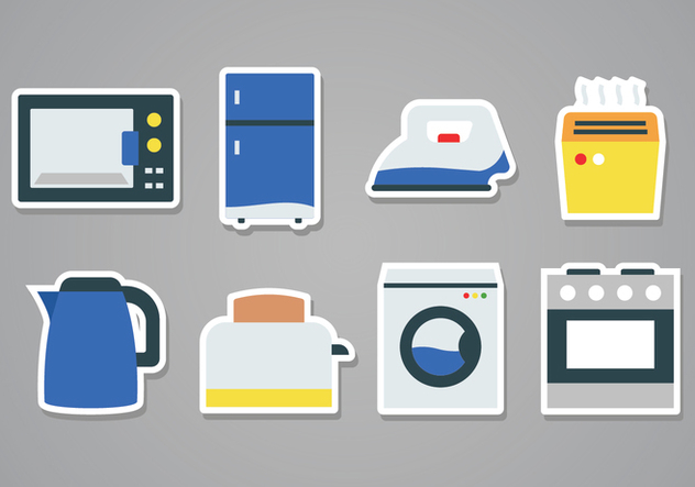 632x443 Free Home Appliances Sticker Icons Free Vector Download 379709