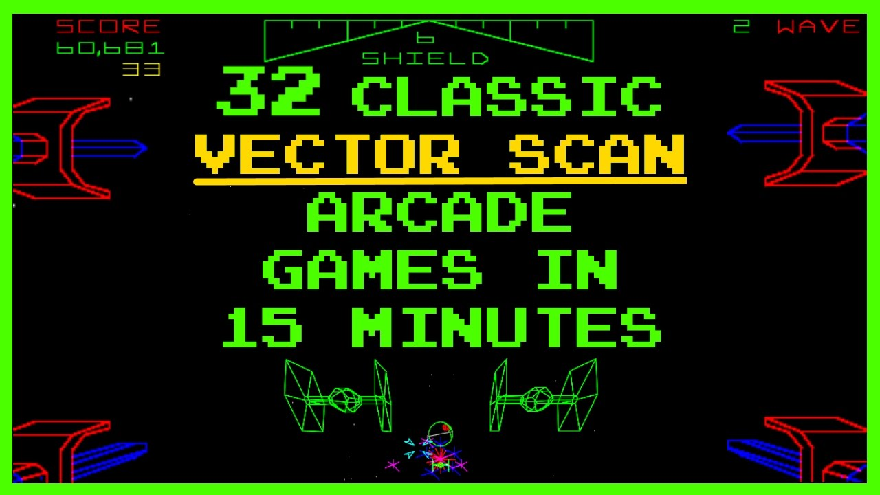 1280x720 Classic Vector Scan Arcade Games Compilation