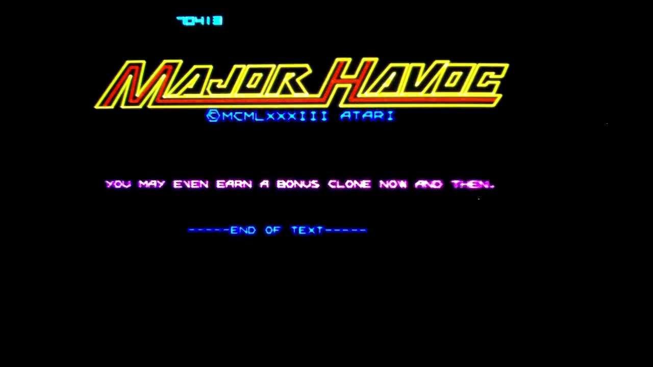 1280x720 Major Havoc Vector Arcade Game By Atari (1983).