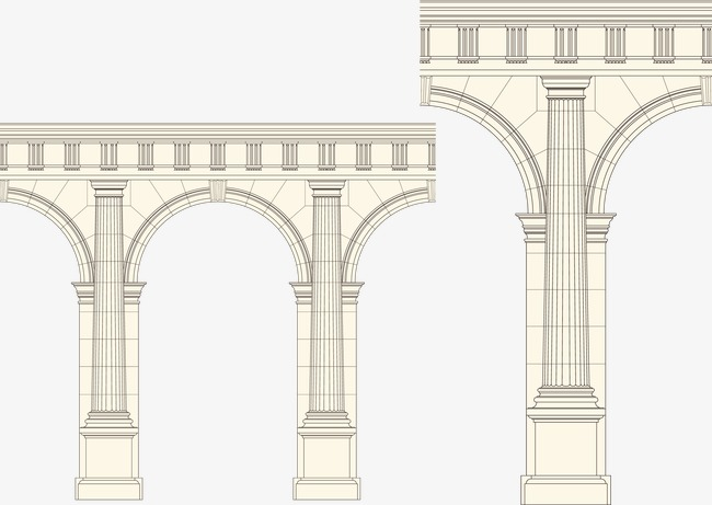 650x461 Arch Column Vector, Arch Pillars, Vector, European Style Png And