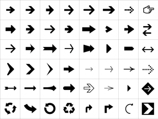 310x233 Arrows Symbols Amp Icons Vector Free Icon Packs Ui Download