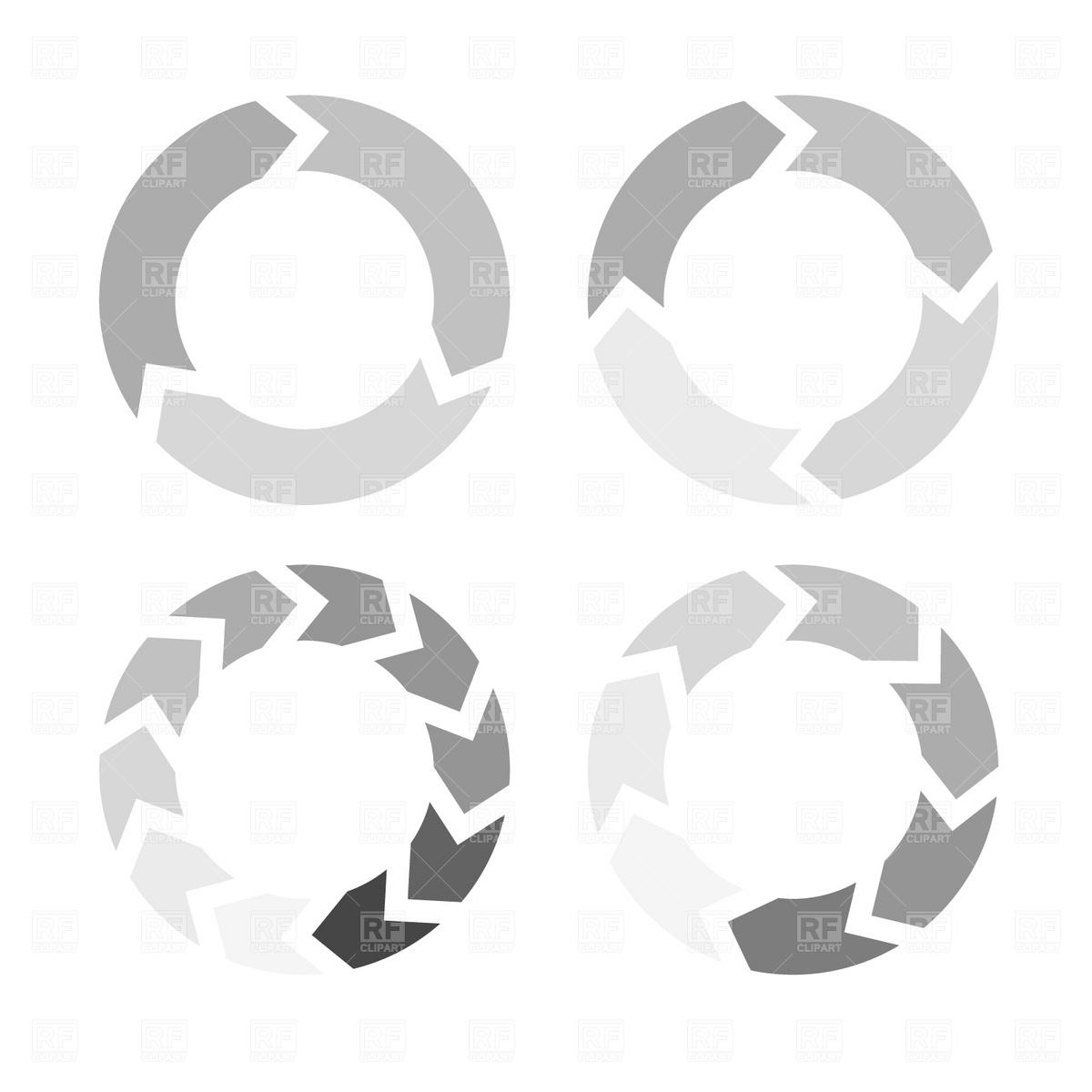 1200x1200 Arrows In A Circle Flow Vector Image Vector Artwork Of Signs