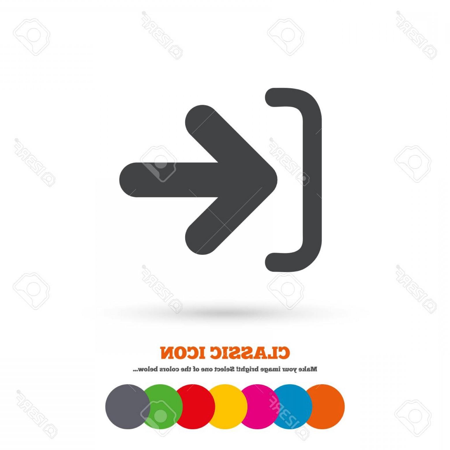 1560x1560 Photostock Vector Login Sign Icon Sign In Symbol Arrow Classic