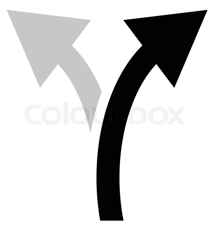 750x800 Two Way Arrow Symbol, Arrow Icon. Curved Arrows Left And Right