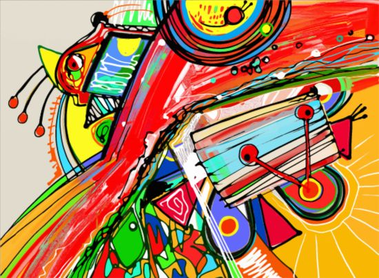 550x403 Abstraction Graffiti Art Background Vector 03 Free Download