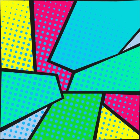588x588 Cartoon Pop Art Backgrounds Vectors 13 Free Download