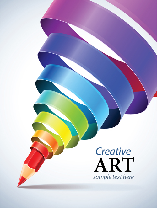 500x663 Creative Ribbons Cone Art Background Vector 04 Free Download