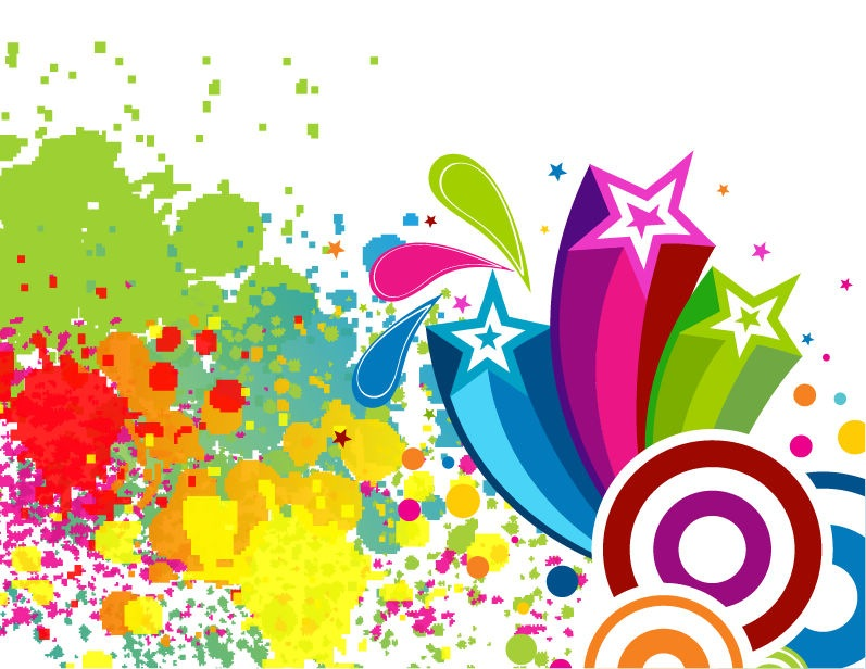 797x616 Abscract Colorful Spots Background Vector Art Free Vector