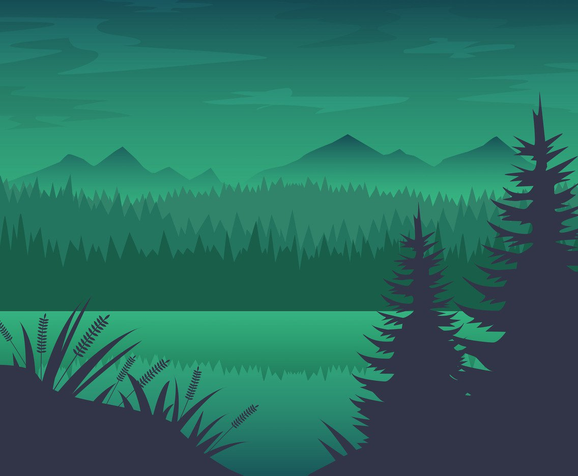 1136x936 Free Forest River Background Vector Vector Art Amp Graphics