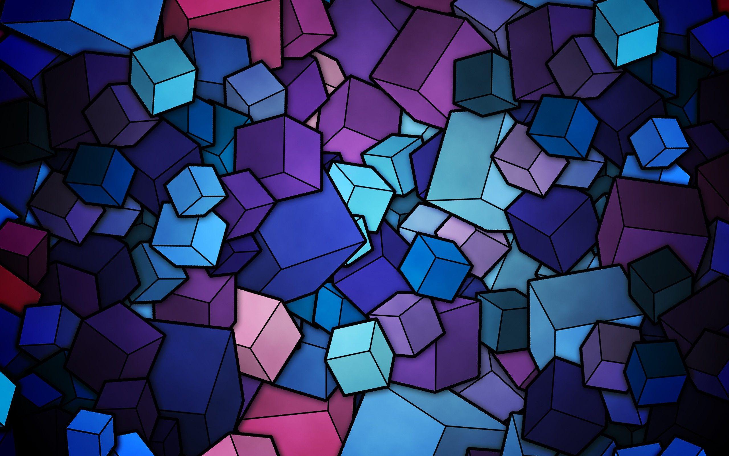 2560x1600 Cubes Vector Art Background Wallpaper