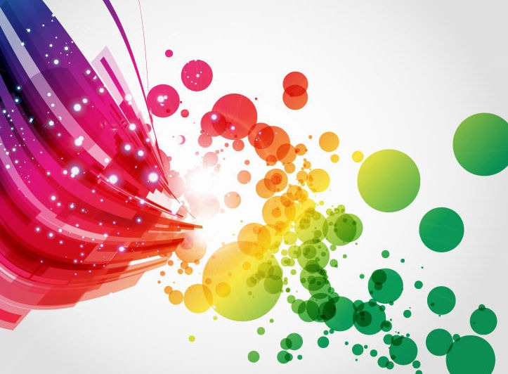723x532 Abstract Colorful Vector Background Art Free Vector Graphics