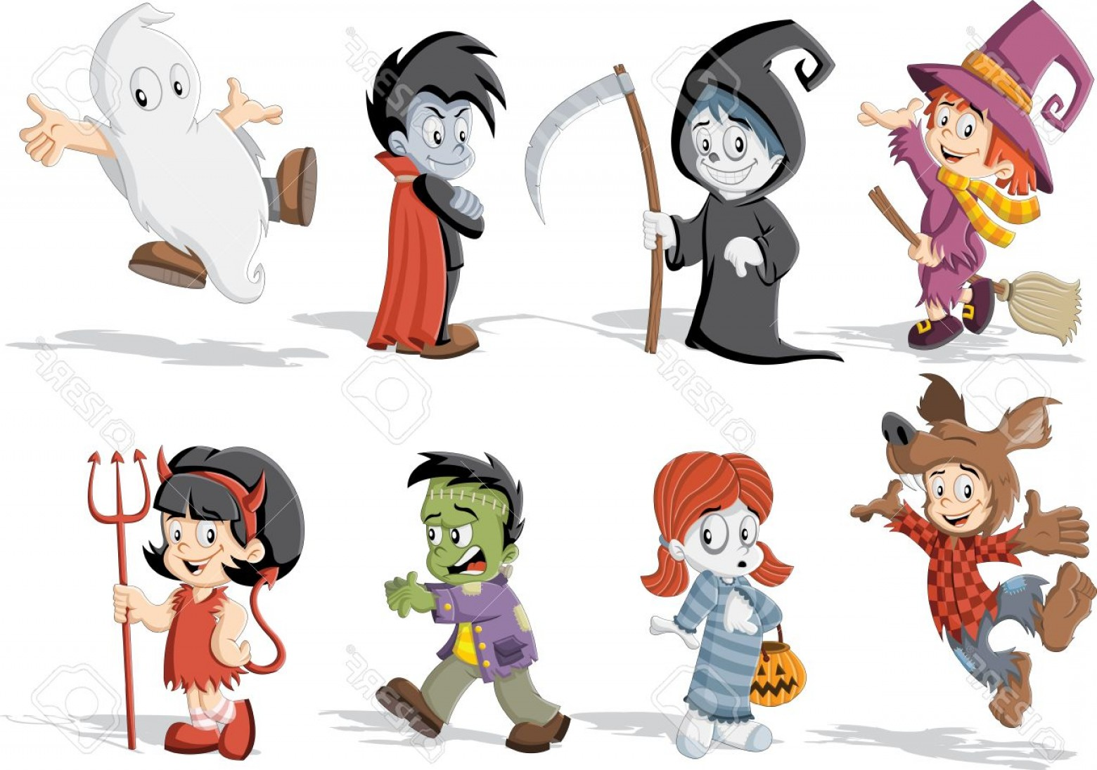 1560x1096 Photostock Vector Cartoon Children Wearing Costumes Of Classic