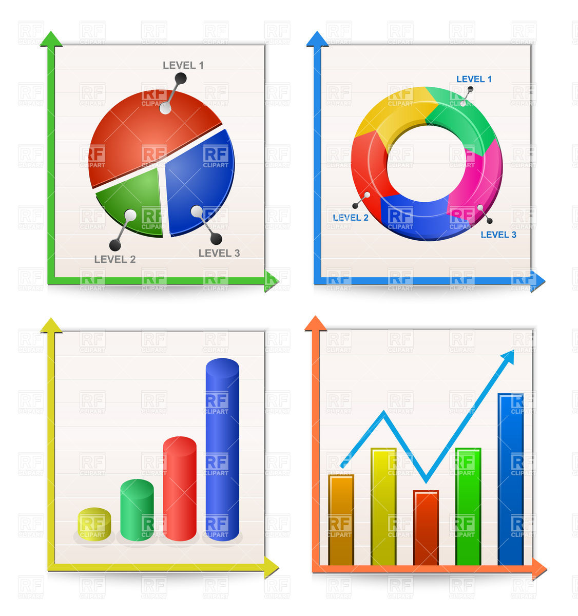 1126x1200 Charts And Graphs Collection Vector Image Vector Artwork Of