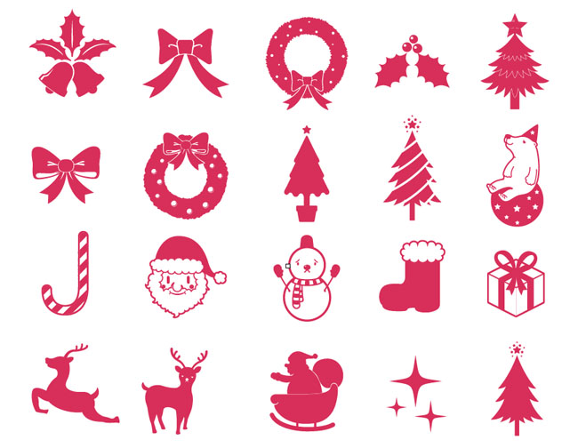 650x504 Christmas Elements Vector Collection