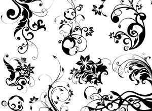 300x220 Free Download Of Floral Vector Art Design Elements Vector Graphic