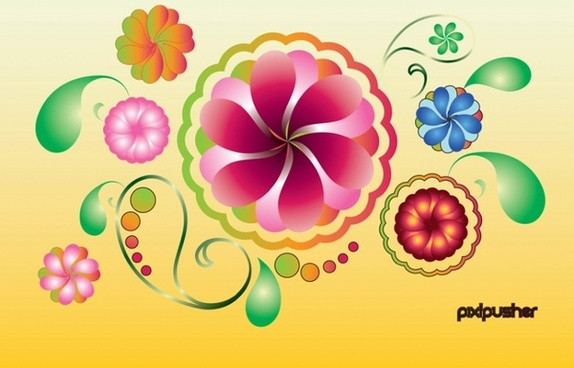 574x368 Vector Spring Grass Flowers Free Vector Download (11,706 Free