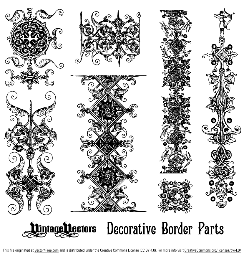 829x869 Decorative Borders Elements