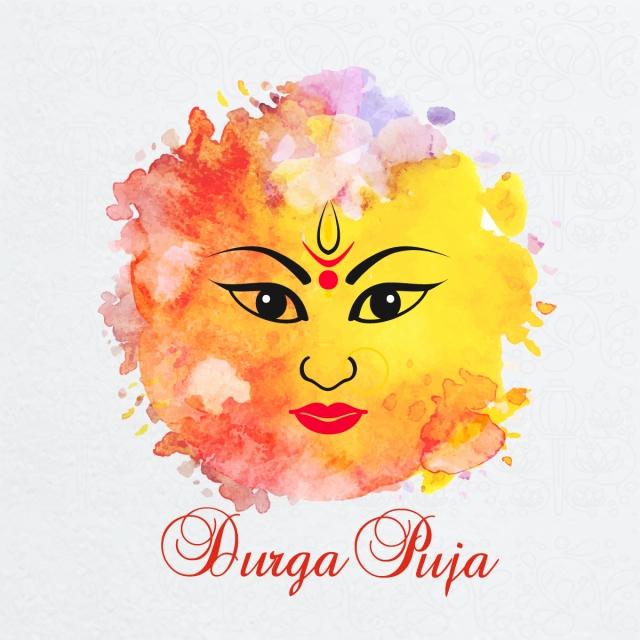 640x640 Durga Puja Festival Vector Art Free Download, Durga Puja Vector