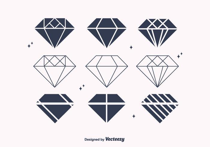 700x490 Flat Diamond Vectors