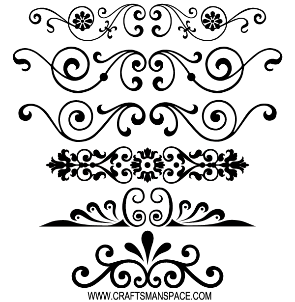 600x615 Free Decorative Ornaments Vector Kartinki Ornamenty Venzeli
