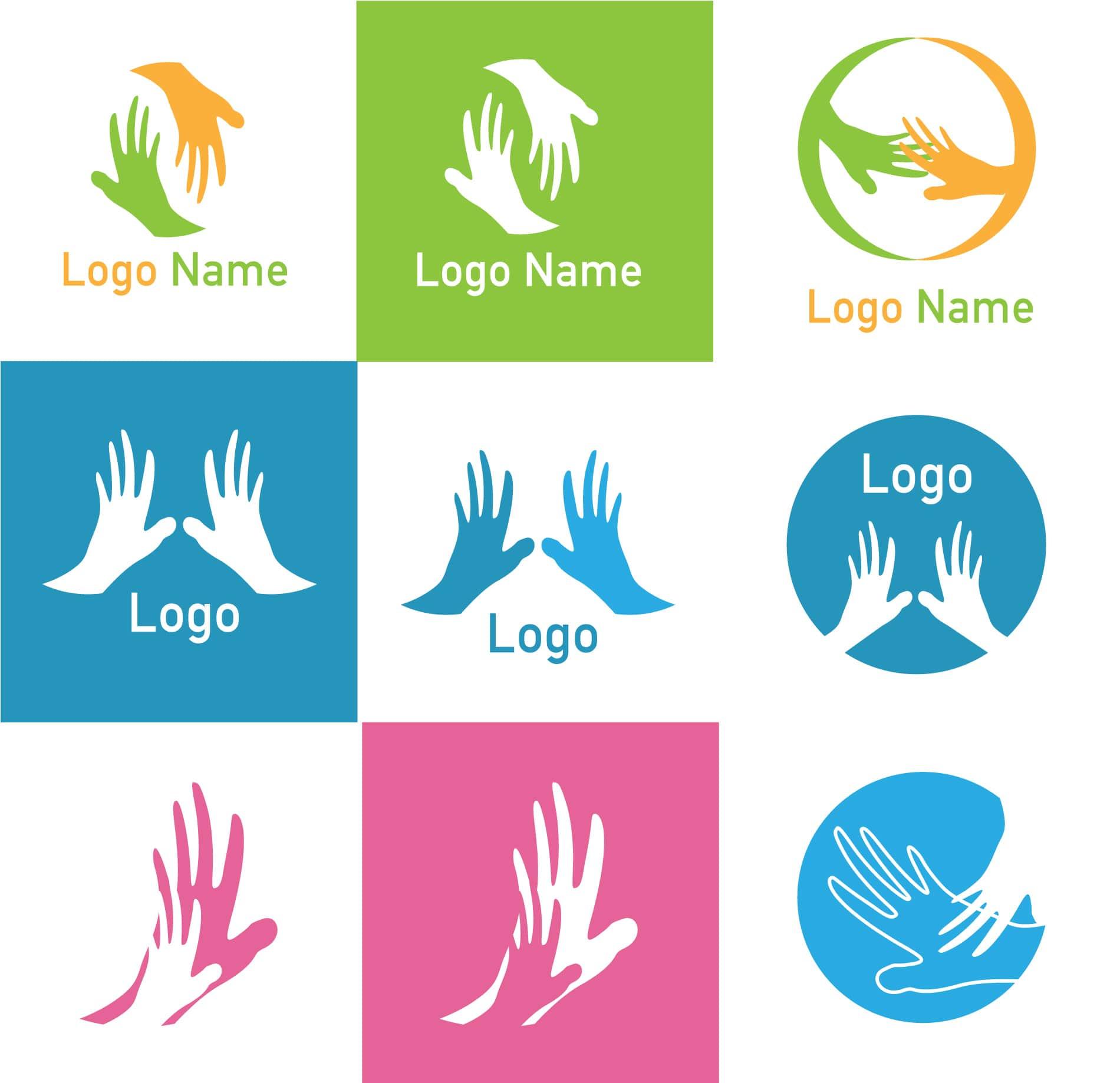 1900x1838 Hand Vector Logos Various Free Vector Art Download
