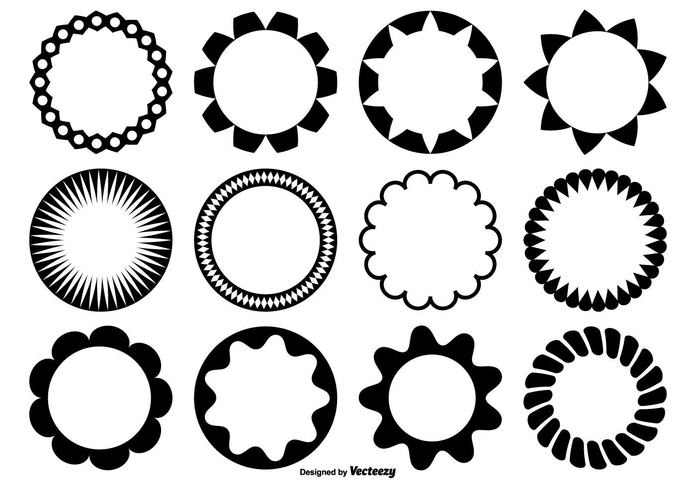 1400x980 Circle Vector Shapes