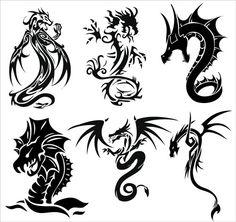Vector Art Dragon