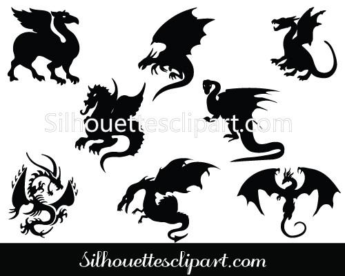 500x400 Dragon Silhouette Chinese Dragon Clipart Amp Dragon Tattoo