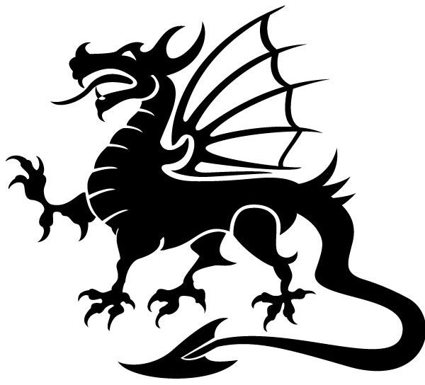 600x544 Dragon Vector Image Inspiration Vector Images Free