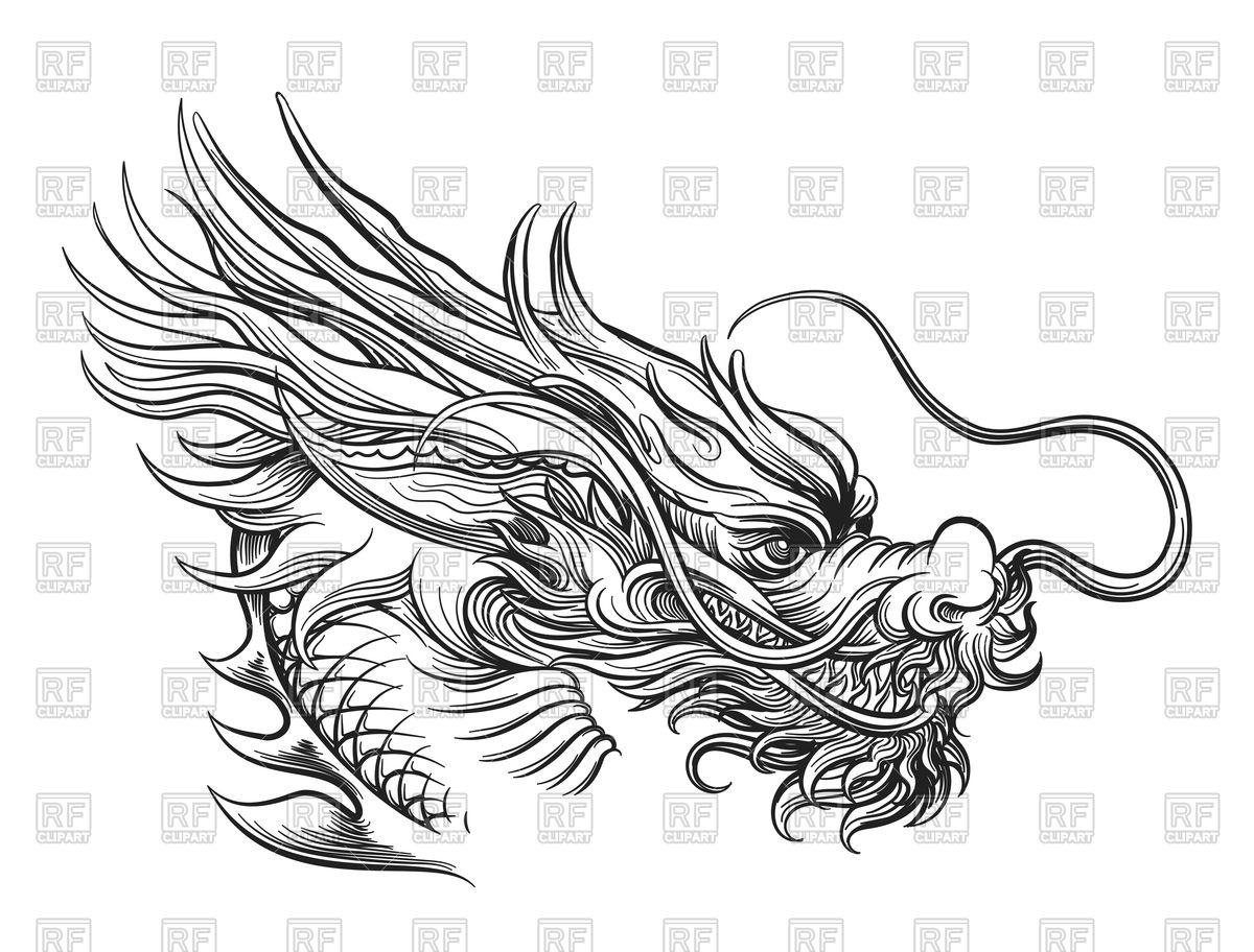 1200x912 Hand Drawn Shinese Dragon Vector Image Vector Artwork Of Plants