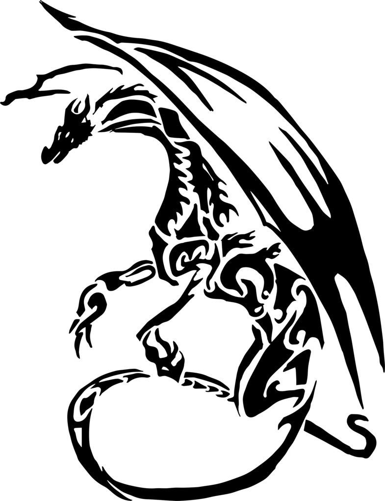 785x1019 Vector Dragon Tattoo By Alex321432
