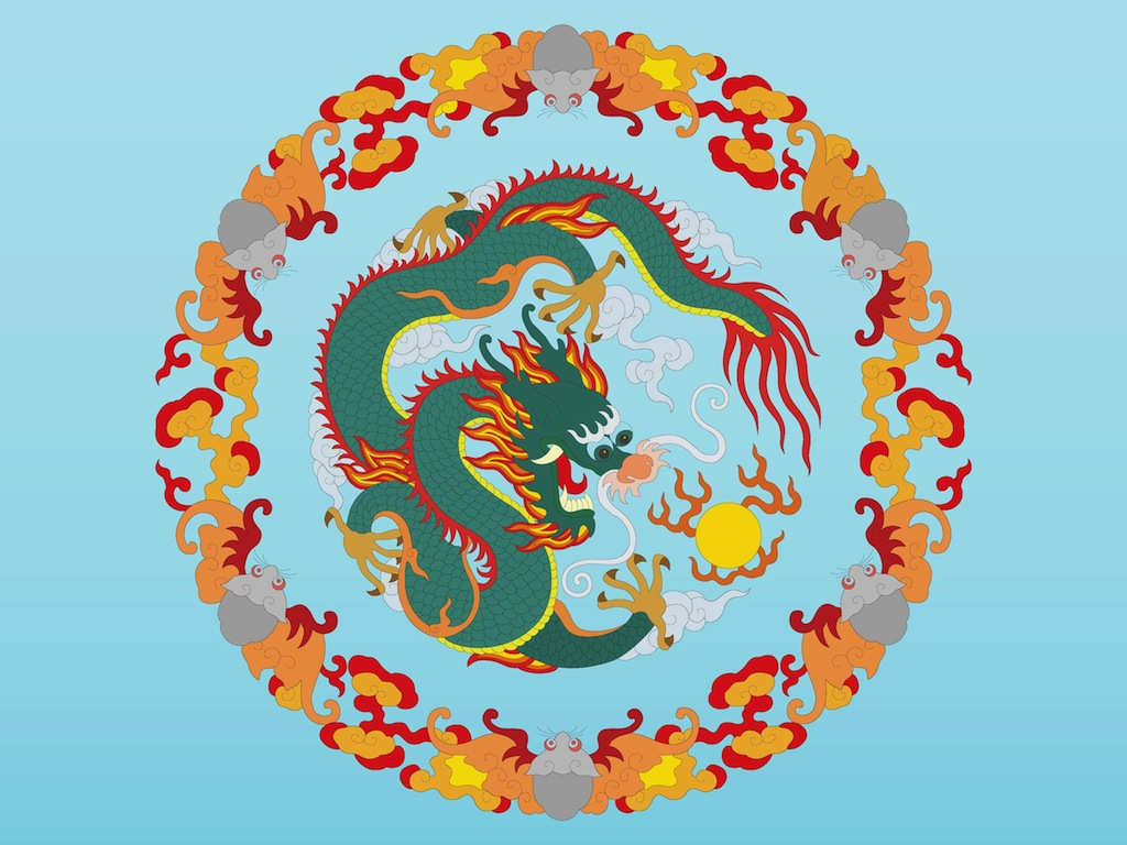1024x768 Chinese Dragon Vector Art Amp Graphics