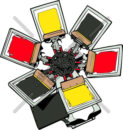 473x500 Screenprintd02 Clipart And Vectorart Occupations Screenprinters