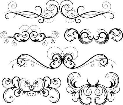 425x362 Filigree Patterns Free Download Free Ornate Vector Swirls