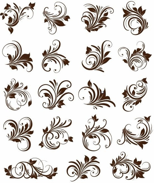 505x600 Floral Ornament Element Vector Graphics Free Vector In