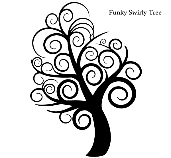 600x555 All Free Download Vector Images Free Vector Funky Tree