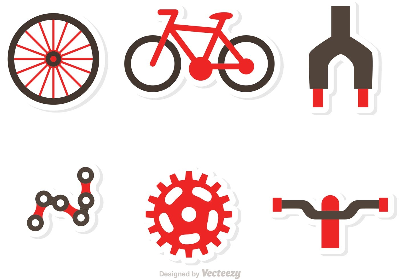 1400x980 Bicycle Part Icons Vectors Download Free Vector Art Stock Et