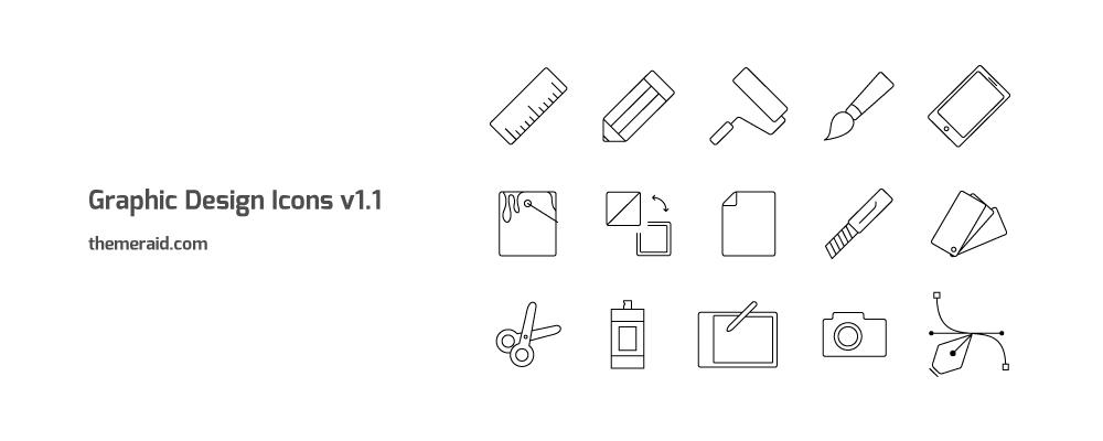 1000x400 Graphic Design Icons V1.0 Vector, Ai