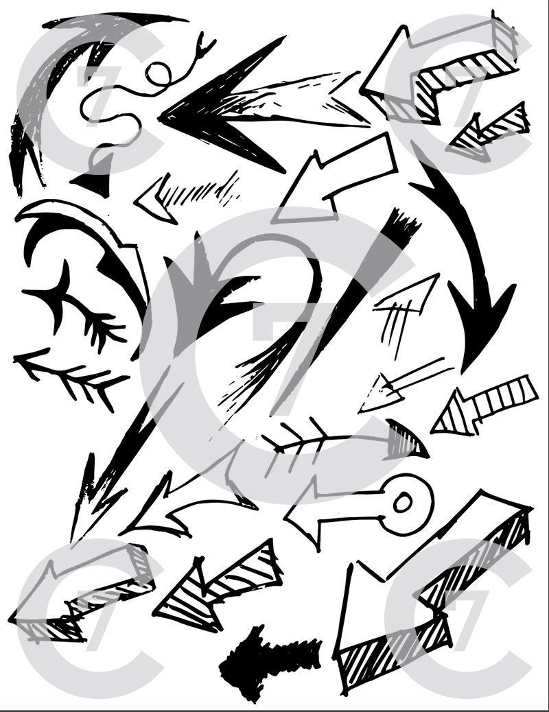 800x1038 Arrows Vector Art Pack 02
