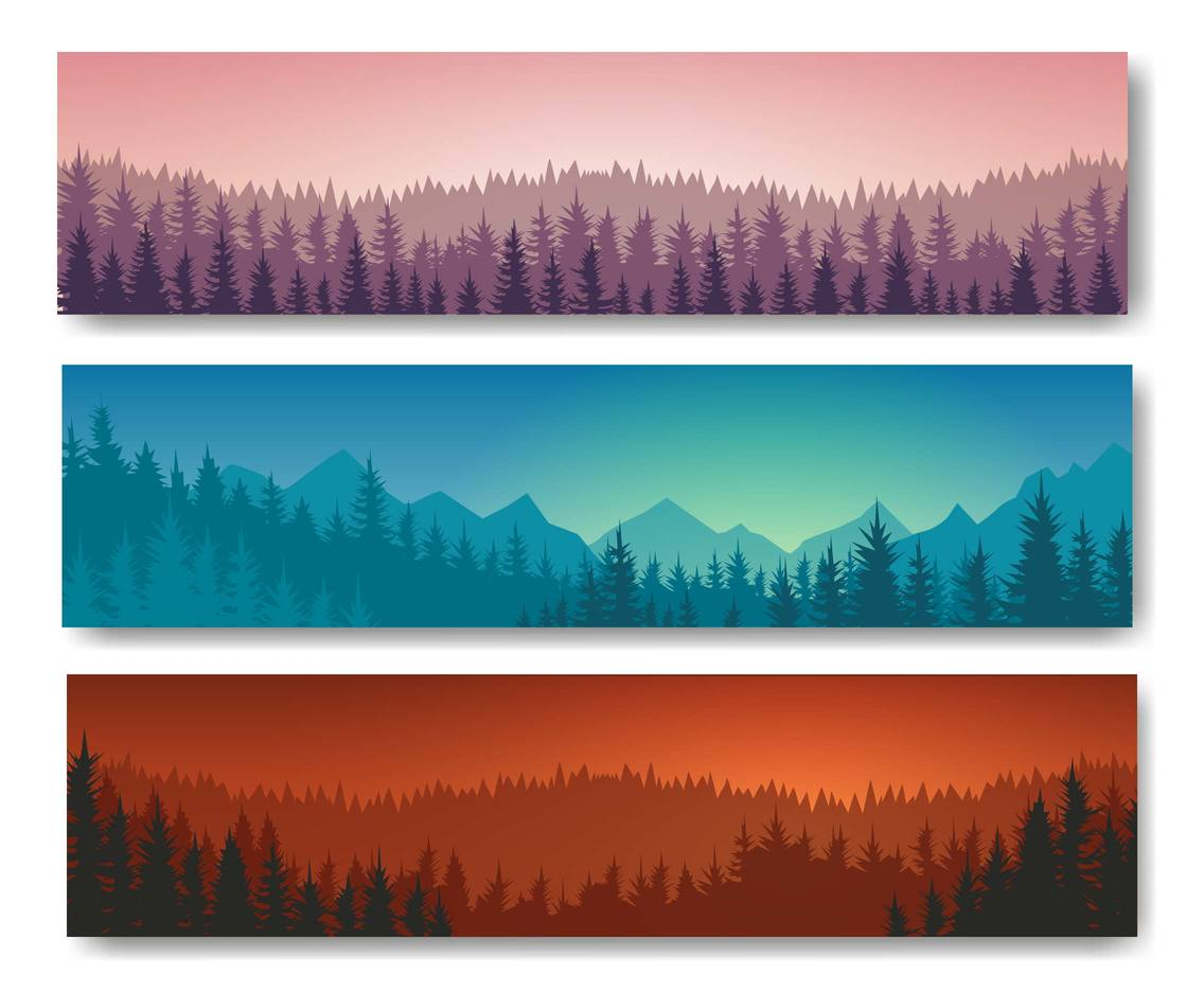 1136x936 Free Forest Landscape Background Vector Vector Art Amp Graphics