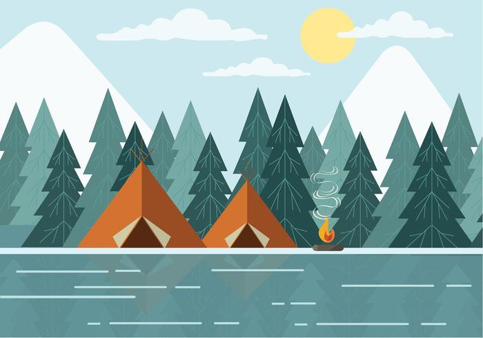 700x490 Free Landscape Vector Illustration