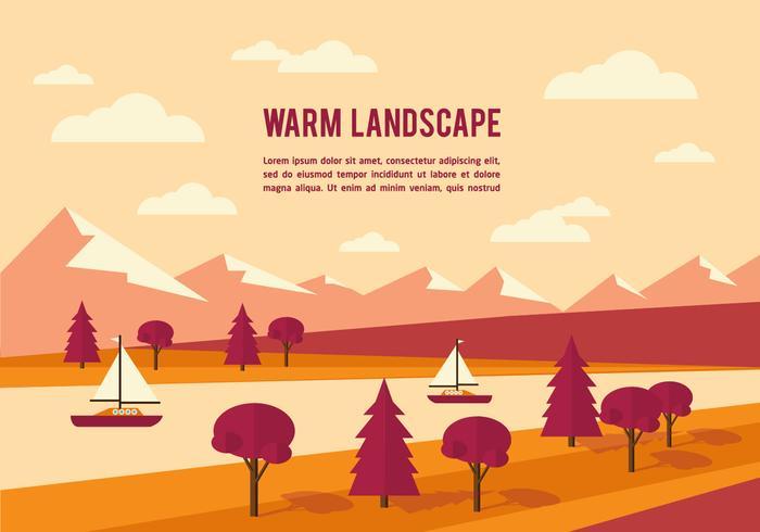 700x490 Free Summer Landscape Vector Background