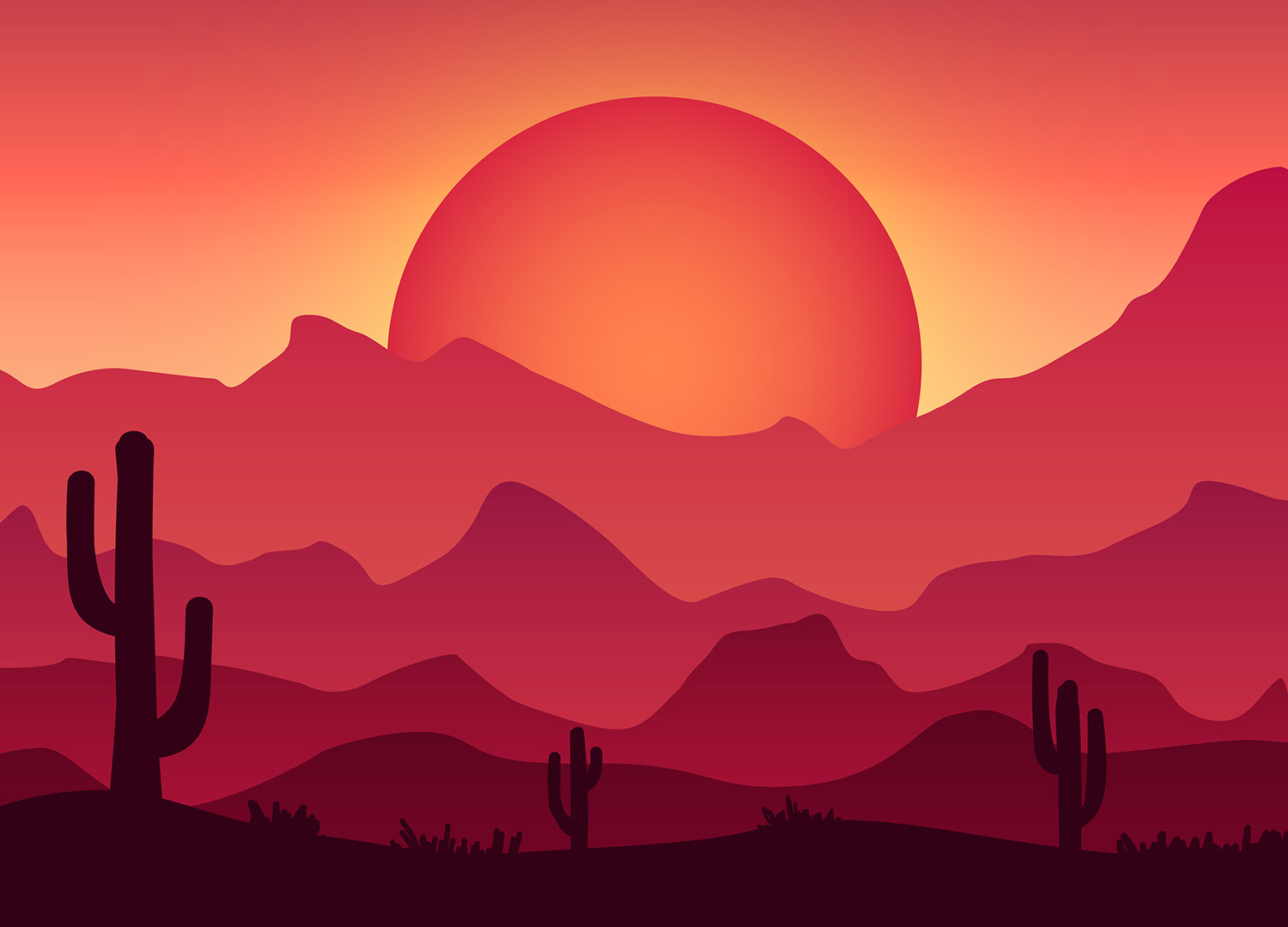 1500x1079 How To Create A Colorful Vector Landscape Illustration