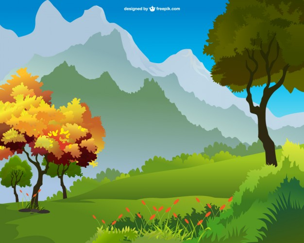 626x500 Landscape Vector Art Free Vector Free Vector Download In .ai
