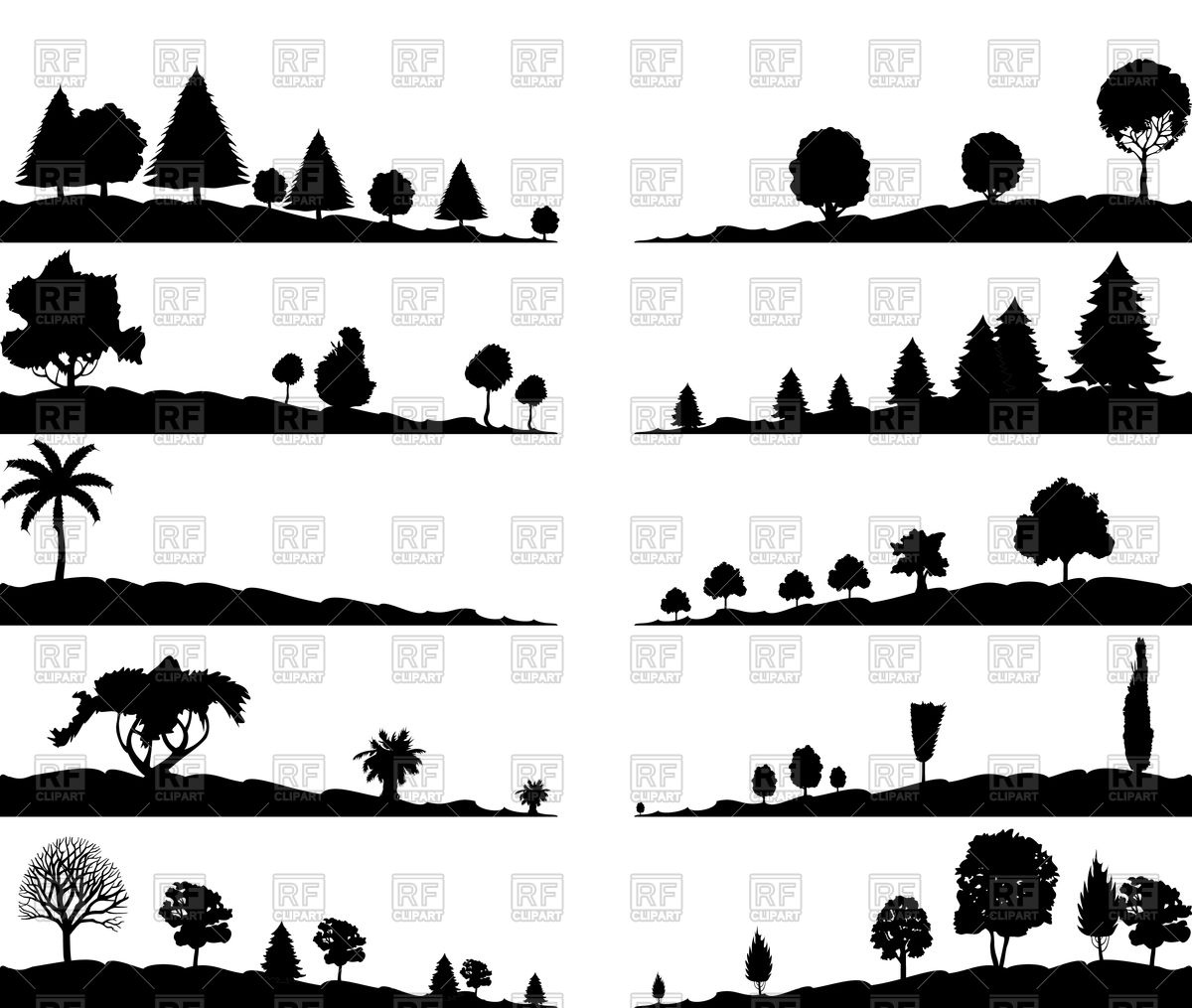 1200x1015 Landscapes With Trees Vector Image Vector Artwork Of Plants And